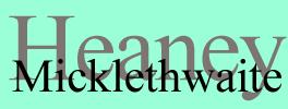 Heaney Micklethwaite